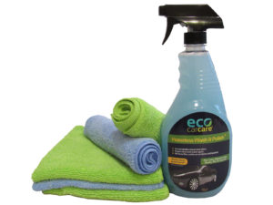 waterless car wash and polish with micro fiber towels