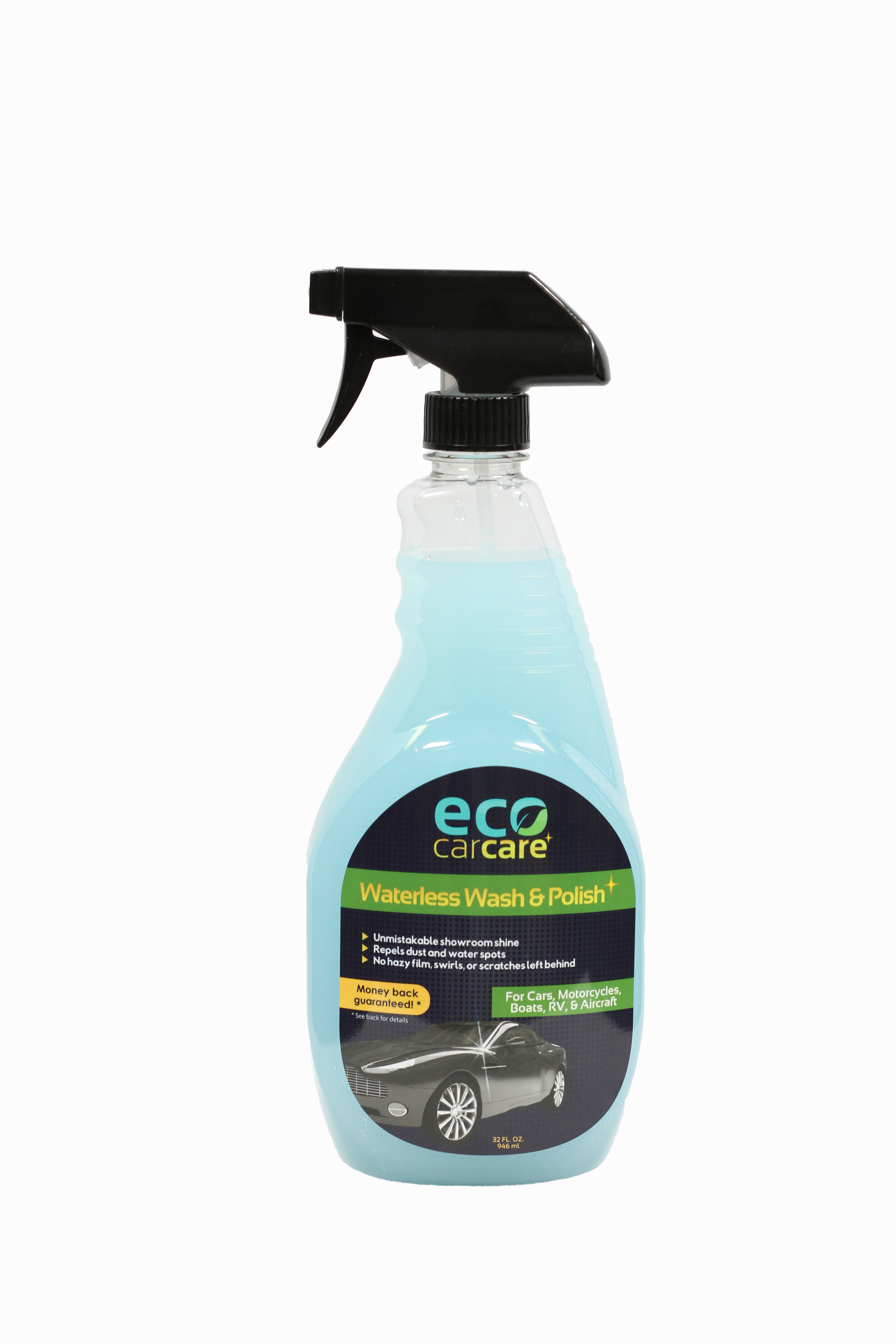waterless car wash spray on wax formula 32 oz by eco car care. Black Bedroom Furniture Sets. Home Design Ideas