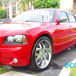 fresh-clean-red-charger-on-the-scene-gallon-waterless-car-wash